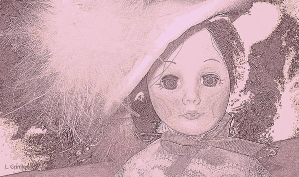 Wall Art - Digital Art - Doll Face by Lessandra Grimley