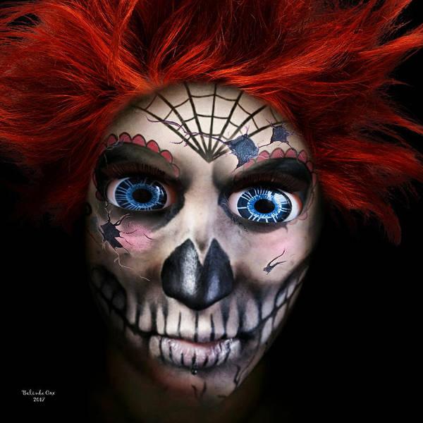 Digital Art - Doll Skelton Skull by Artful Oasis