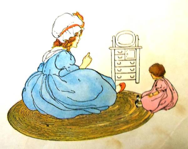 Mother Goose Drawing - Dollie by Lord Frederick Lyle Morris - Disabled Veteran