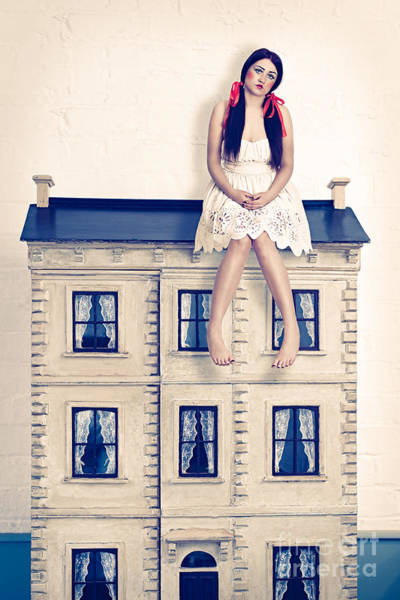 Doll House Photograph - Dolly And Her House by Amanda Elwell
