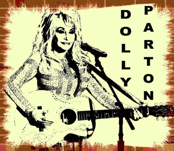 Wall Art - Digital Art - Dolly Parton Graffiti Poster by Dan Sproul