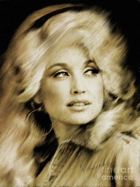 Wall Art - Painting - Dolly Parton by Mary Bassett