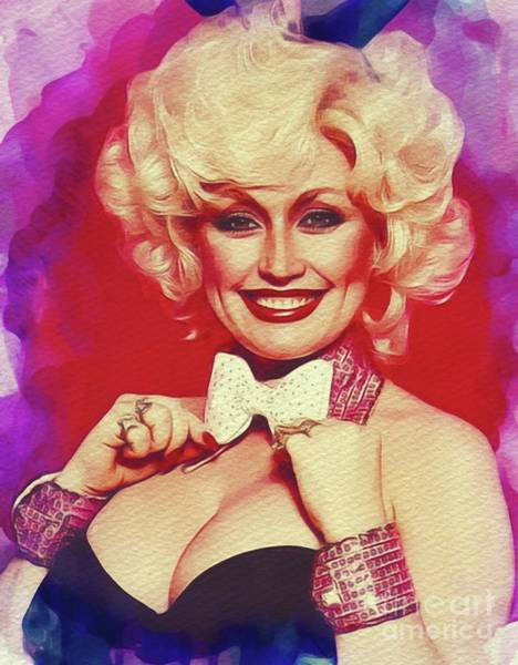 Wall Art - Painting - Dolly Parton, Music Legend by John Springfield
