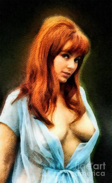 Horror Film Painting - Dolly Read, Vintage Actress by John Springfield
