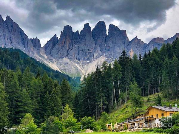 Photograph - Dolomite Drama by Jacqueline Faust