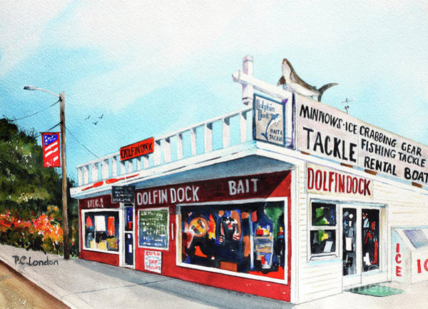 Painting - Dolphin Dock I by Phyllis London