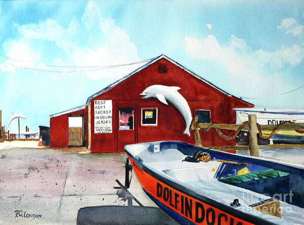 Painting - Dolphin Dock II by Phyllis London