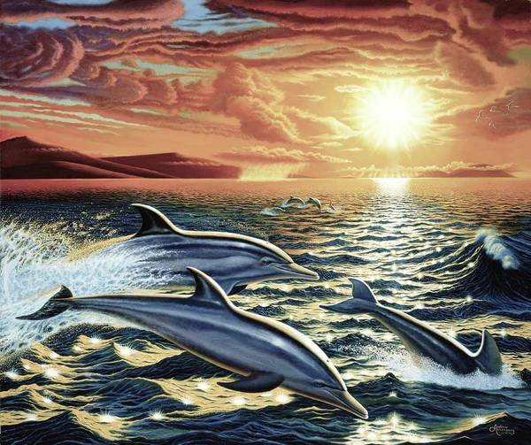 Annenberg Painting - Dolphin Dream by Andrew Annenberg