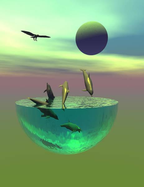 Bryce Digital Art - Dolphin Heaven by Claude McCoy