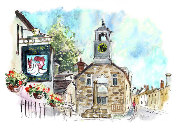 Painting - Dolphin Inn In Grampound by Miki De Goodaboom