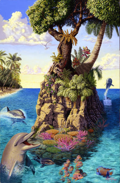 Annenberg Painting - Dolphin Isle by Andrew Annenberg