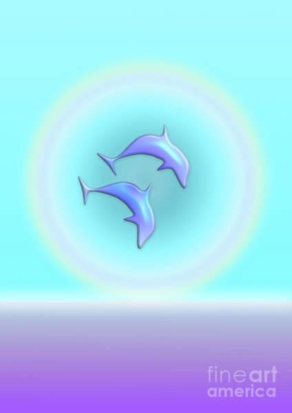 Digital Art - Dolphin Joy by Barefoot Bodeez Art