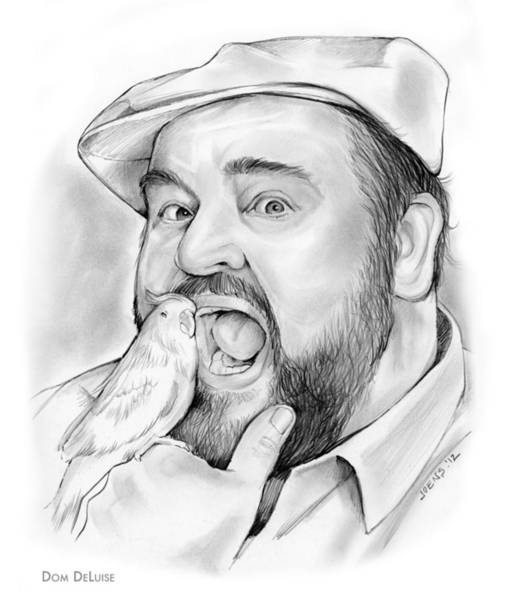 Authors Drawing - Dom Deluise by Greg Joens