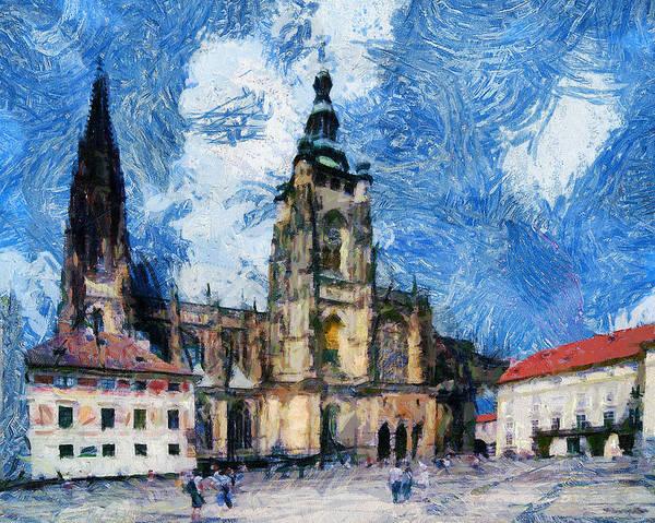 Town Square Digital Art - Dom Square by Yury Malkov