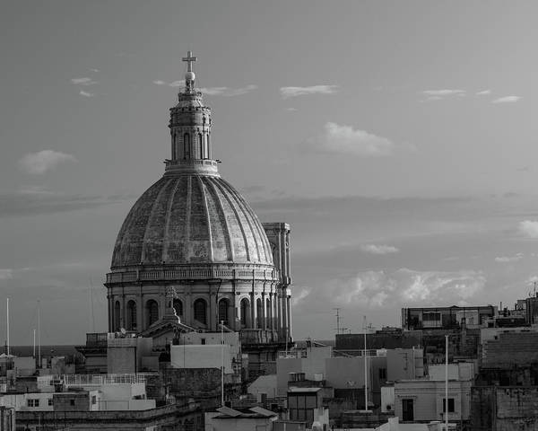 Dome Of Our Lady Of Mount Carmel In Valletta, Malta Art Print