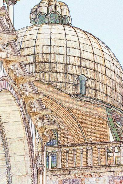 Wall Art - Photograph - Dome On St. Mark's In Venice by Michael Henderson