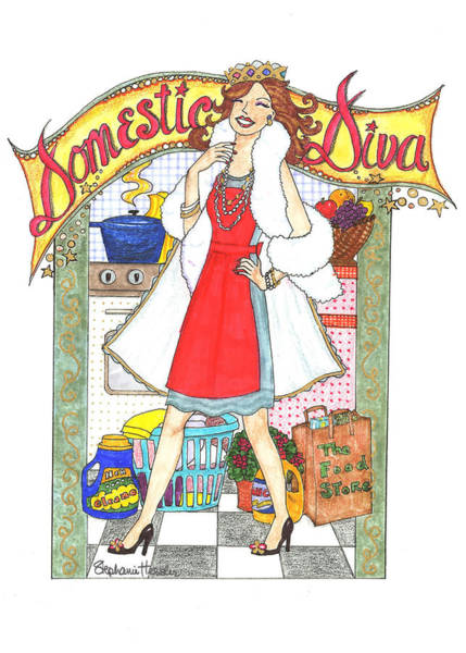 Mixed Media - Domestic Diva by Stephanie Hessler