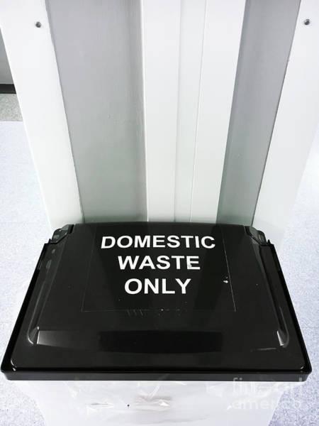 Rubbish Bin Photograph - Domestic Waste Bin by Tom Gowanlock