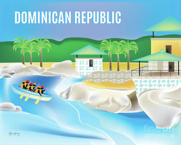 Wall Art - Digital Art - Dominican Republic Horizontal Scene by Karen Young