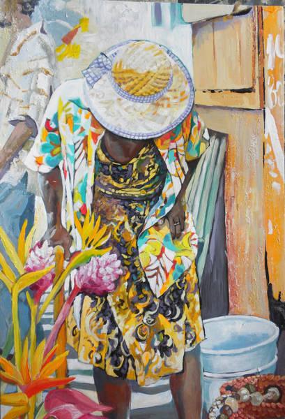 Caribbean Wall Art - Painting - Dominican Retirement by Jan Farara