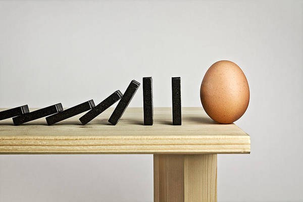 Egg Photograph - Domino Effect by Mister Solo