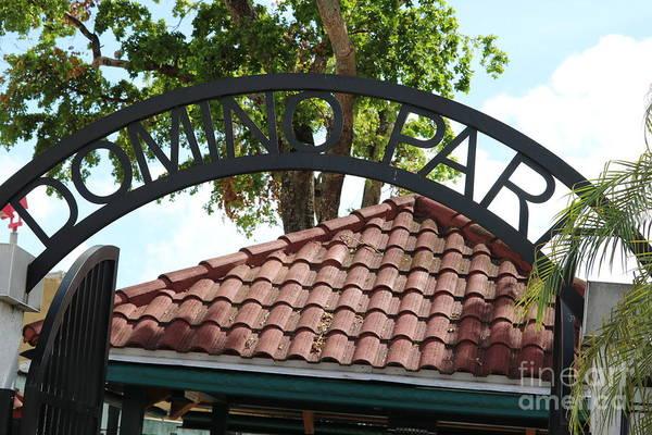 Photograph - Domino Park Entrance by Carol Groenen