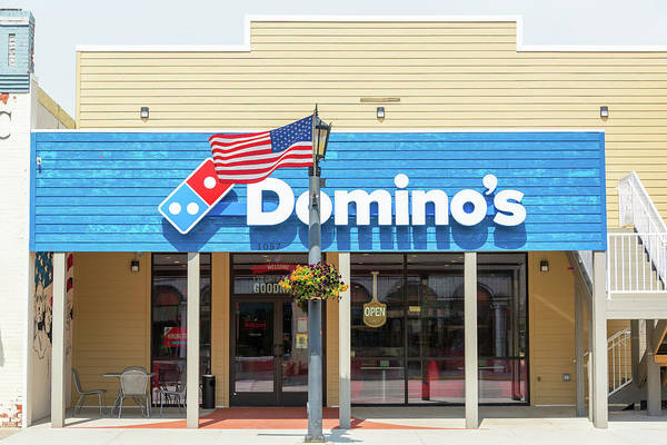 Sturgis Wall Art - Photograph - Dominos Pizza And American Flag by Jess Kraft