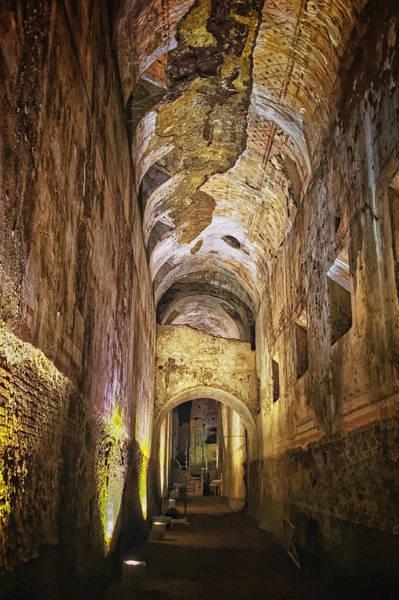 Photograph - Domus Aurea Hallway by Adam Rainoff