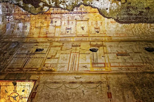 Photograph - Domus Aurea Wall Fresco by Adam Rainoff