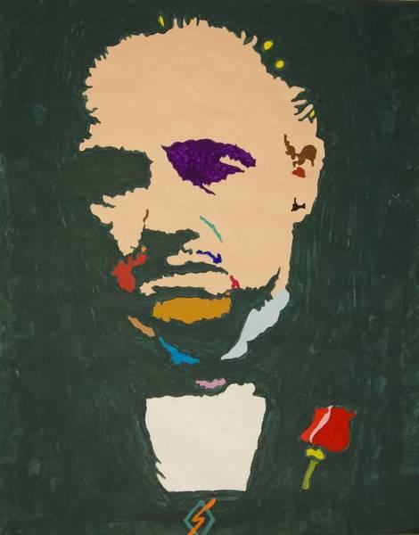 Wall Art - Painting - Don Vito Corleone by Stormm Bradshaw