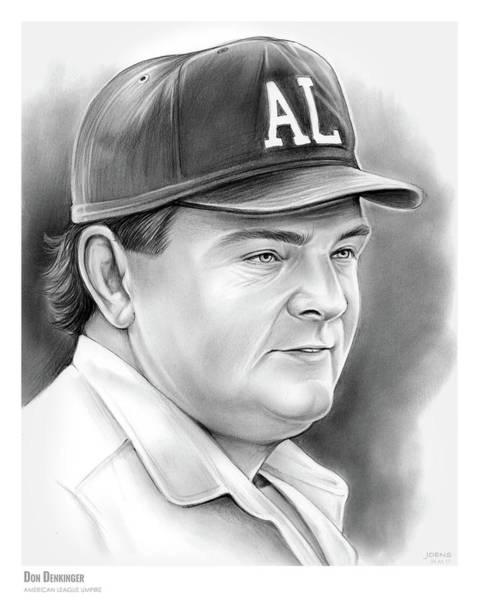 Sports Drawing - Don Denkinger by Greg Joens