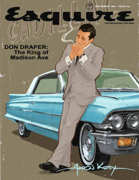 Magazine Cover Painting - Don Draper In Esquire by Aaron Kirby