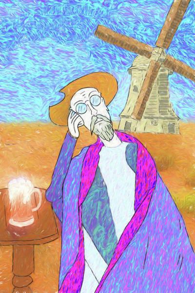 Man Of La Mancha Wall Art - Digital Art - Don Quixote Dreams Of Vincent Van Gogh Or Vice Versa by John Haldane