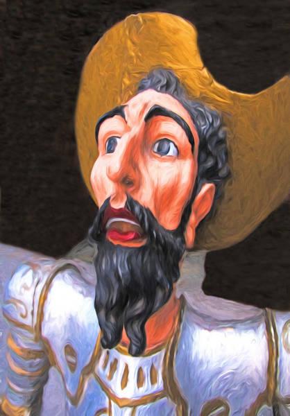 Man Of La Mancha Wall Art - Digital Art - Don Quixote Portrait by Dennis Cox