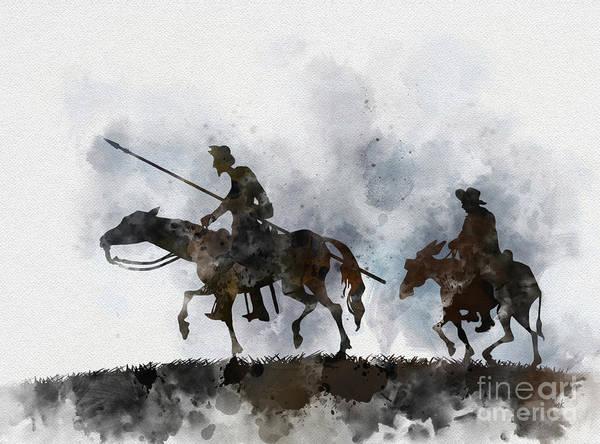 Wall Art - Mixed Media - Don Quixote by My Inspiration