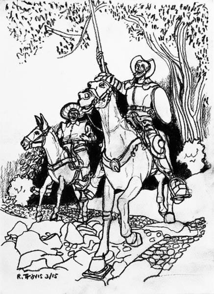 Wall Art - Drawing - Don Quixote by Rich Travis