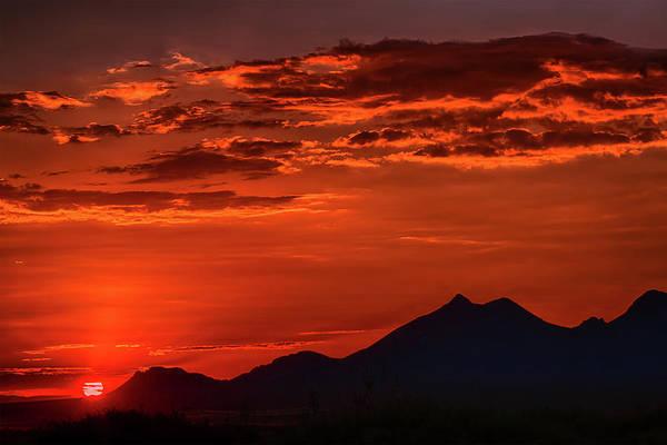 Photograph - Dona Ana Sunset I by Mike Stephens