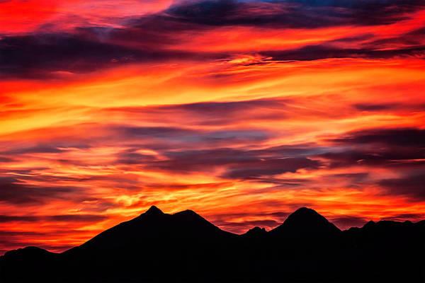 Photograph - Dona Ana Sunset II by Mike Stephens