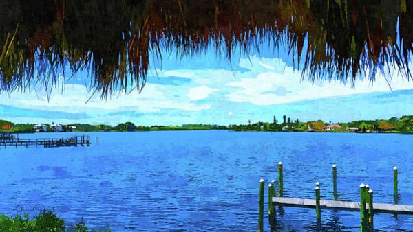 Photograph - Dona Bay Watercolor View by Susan Molnar
