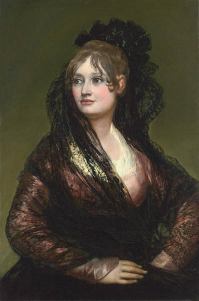 Perfect Body Painting - Dona Isabel De Porcel by Francisco Goya