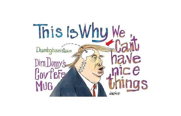 Trump Digital Art - Donald Trump by Trevor Irvin