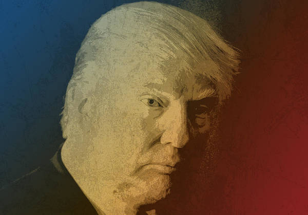 Business Mixed Media - Donald Trump Watercolor Portrait by Design Turnpike