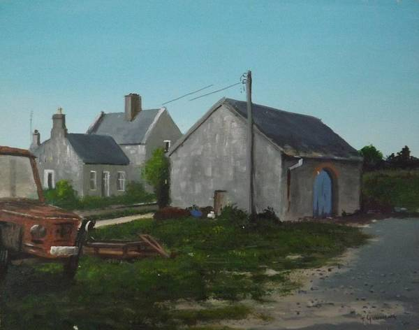 Dereliction Painting - Donamon Railway Station by Tony Gunning