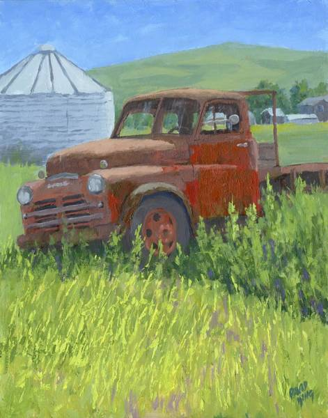 Painting - Done Dodge by David King