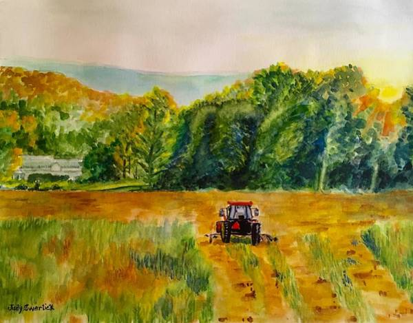Wall Art - Painting - Done For The Day by Judy Swerlick