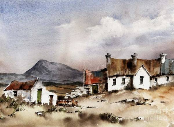 Painting - Donegal.... In The Shadow Of Muckhish by Val Byrne