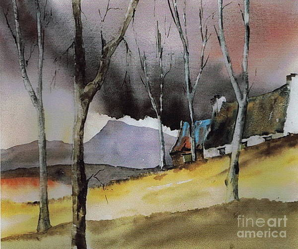 Painting - Donegal.. Storm Over Muckish by Val Byrne