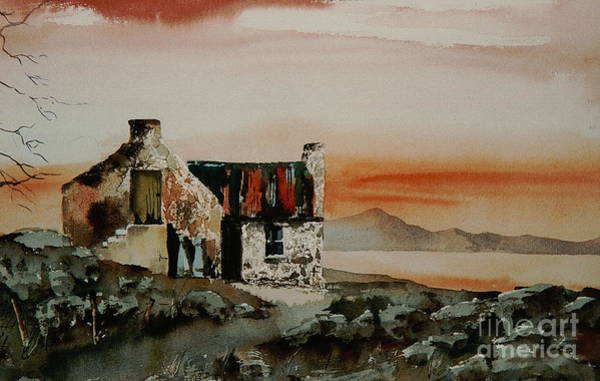 Painting - Donegal... Sunset Near Ardara by Val Byrne