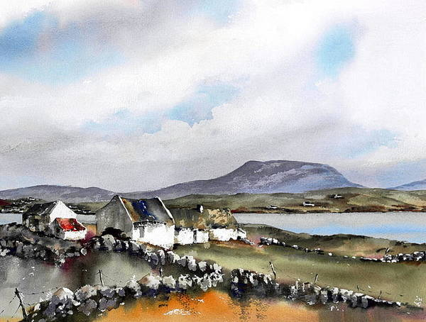 Painting - Donegal... Towards Muckish Mountain by Val Byrne