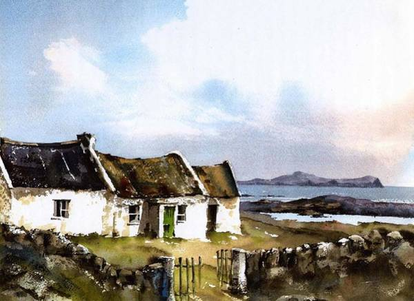 Painting - Donegal... Towards Owey Island by Val Byrne